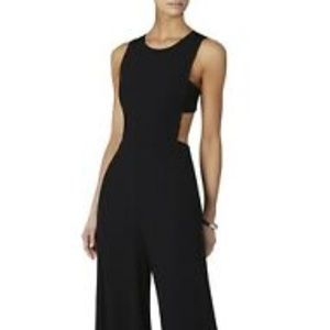 BCBG MAXAZRIA Black Jumpsuit with open back